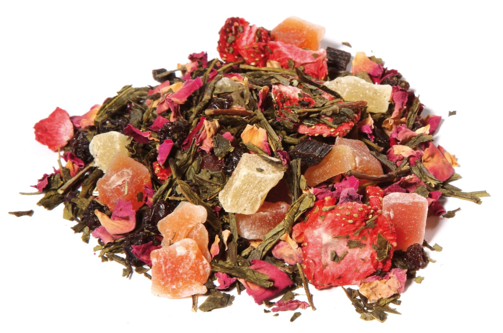 Green Tea Fruit Herbal Blend Cherry Raspberry Taste Freedom All Natural